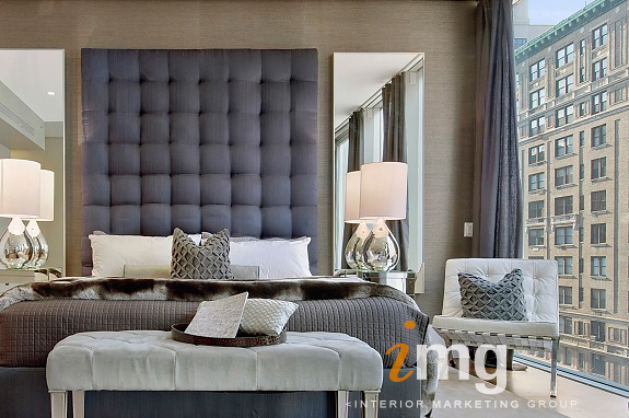 Staged Master Bedroom by Cheryl Eisen